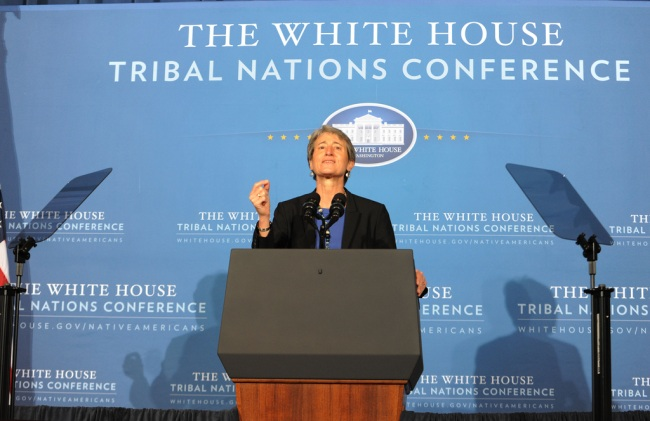 Secretary Jewell speaking at the Tribal Nationsl Conference