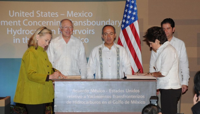 Transboundary Agreement establishing a framework for U.S. offshore oil and gas companies and Mexico's Petroleos Mexicanos to jointly develop transboundary reservoirs.