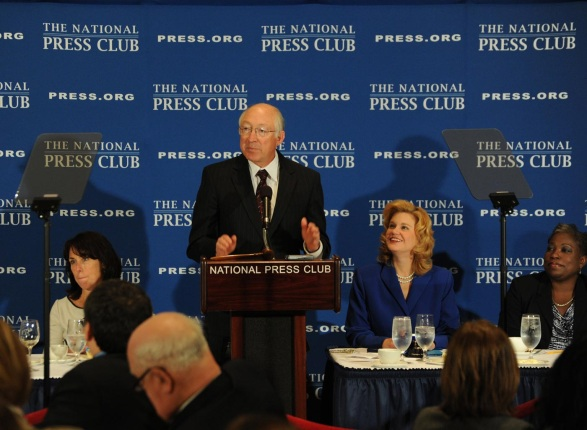 Secretary Salazar speaking at the National Press Club