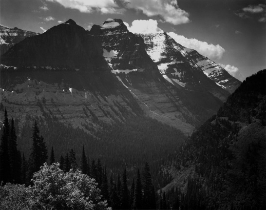 In Glacier National Park Montana Ansel Adams National Archives no. 79-AAE-2