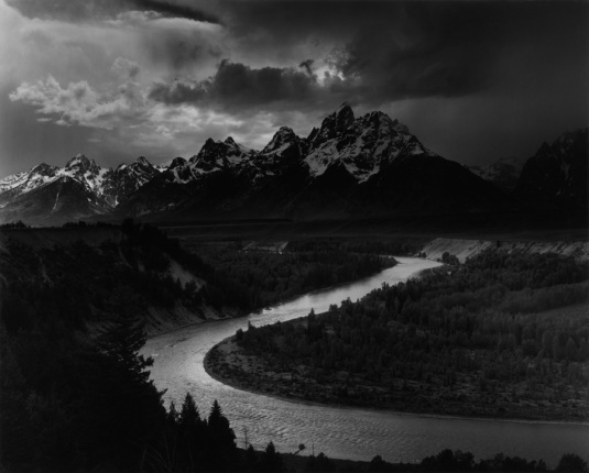 Grand Teton, Snake River Wyoming Ansel Adams National Archives no. 79-AAG-1