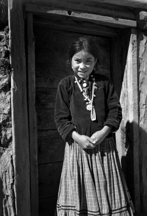 Navajo Girl, Canyon de Chelly Arizona, circa 1942 Ansel Adams National Archives no. 79-AAK-02