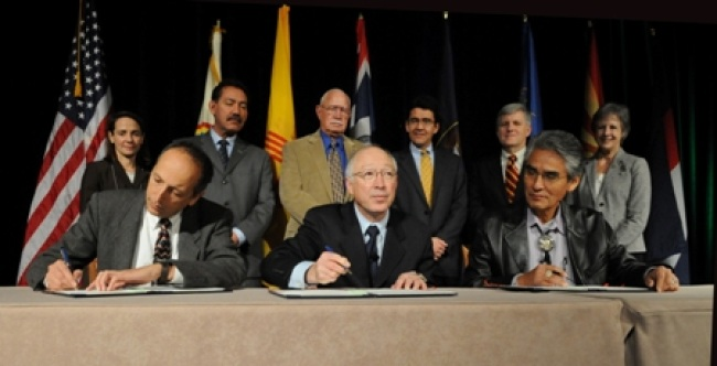 The signing of San Juan Navajo Water Rights Settlement