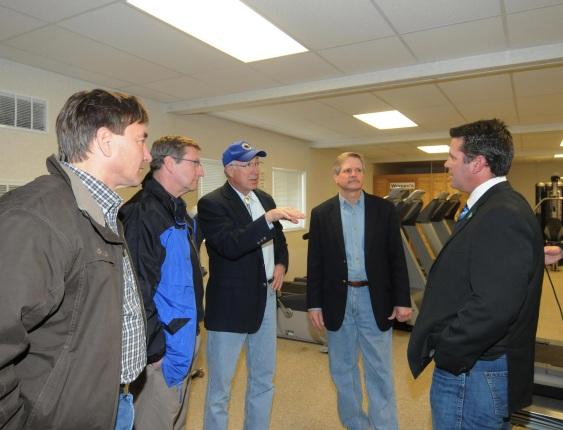 Secretary Salazar tours Target Logistics camp in North Dakota.