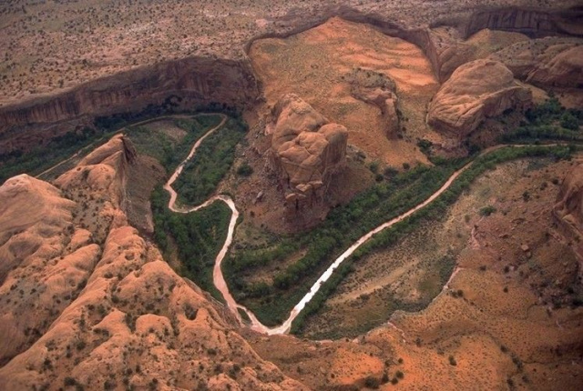 Aerial view of White Canyon in Grand Staircase-Escalante National Monument.