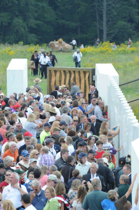 The crowd around the Flight 93 National Monument