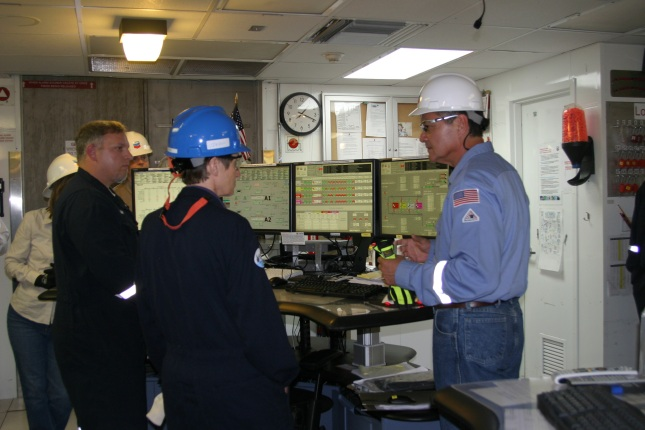 Secretary Jewell on a tour of an oil rig and production platform