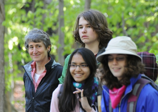 Secretary Jewell and students in Prince William Forest Park