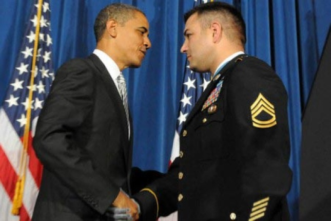 President Obama and Sergeant 1st Class Leroy A. Petry