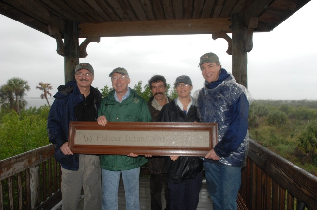 Sam Hamilton visits Pelican Island, one of many sites he oversaw when he was Southeast Regional Director. On December 5 he accompanied Secretary Salazar where they added new refuges to the Centennial Trail boardwalk. The trail has panels recognizing all 5