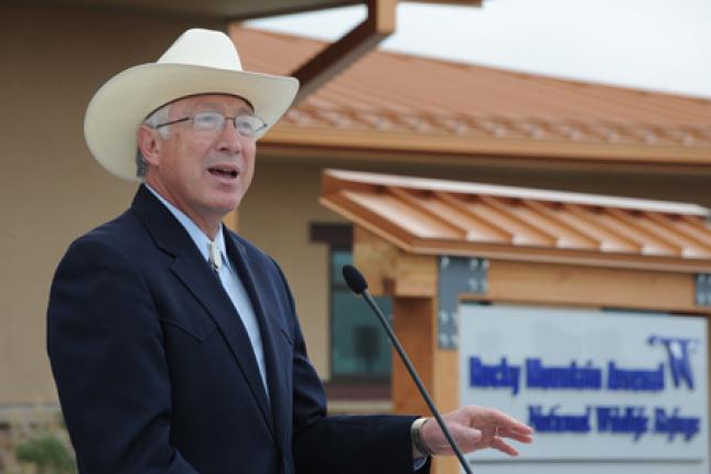 Secretary Salazar Speaks at Rocky Mountain Arsenal