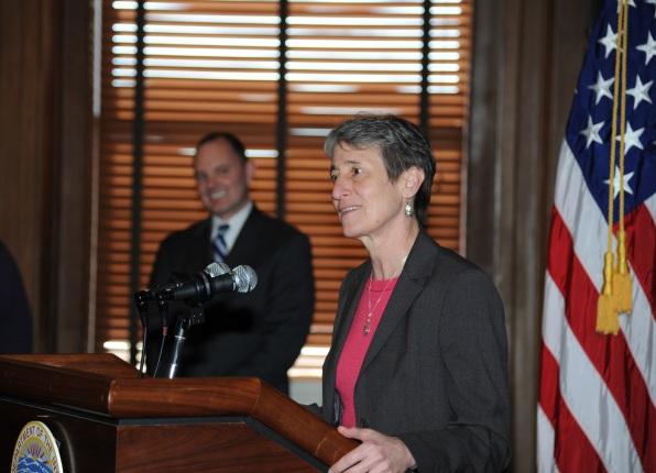 Secretary Jewell at the podium