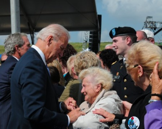 Vice President Biden greets the Crowd