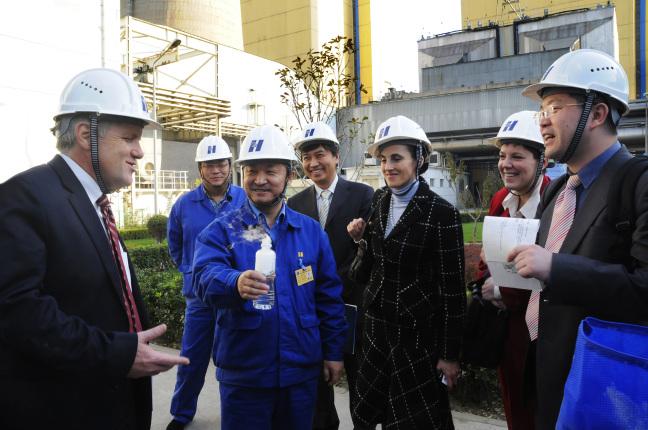 Deputy Secretary David Hayes tours the Huaneng Co-generation power plant near Beijing, China.
