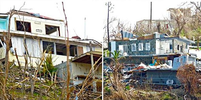 More homes destroyed on USVI.