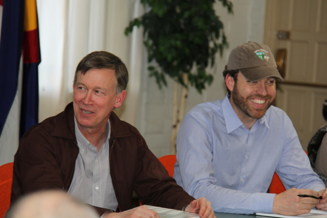 Governor Hickenlooper and Deputy Directory Neil Kornze