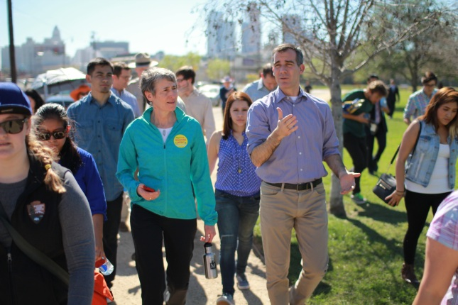 Secretary Jewell and Mayor Garcetti