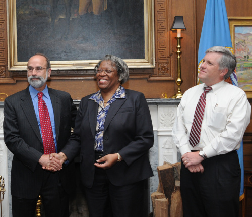 BOE Director Michael Bromwich, Assistant Secretary for Land and Minerals Wilma Lewis and Deputy Secretary of the Interior David Hayes.