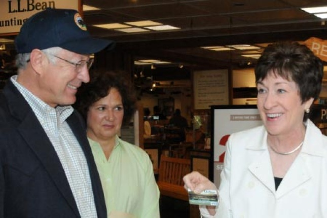 Secretary Salazar and Senator Collins