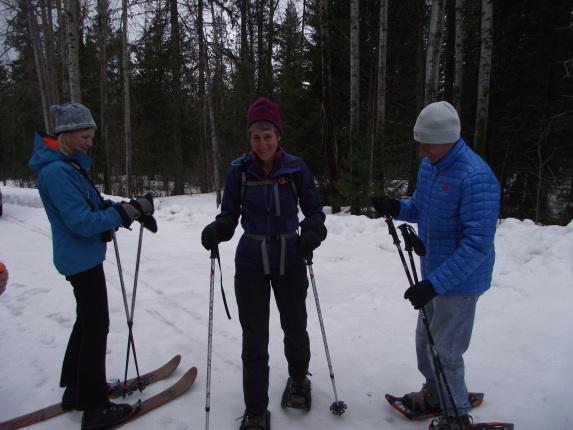 Secretary Jewell skiing