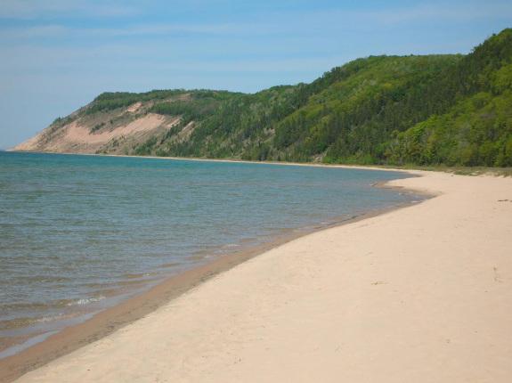 Sleeping Bear Dunes Lake Michigan Beach at Esch Road
