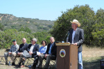 Secretary Salazar speaking at Dedication of the Fort Ord National Monument.