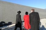 Secretary Salazar Mayor Gray and Congresswoman Norton tour the Martin Luther King, Jr. National Memorial site.