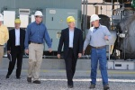 Mike Dunn, President of PacifiCorp Energy, Secretary Ken Salazar , and Garth Larsen, Plant Manager at Blundell Geothermal Plant tour the plant in Utah.