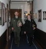 National Park Service Director Jonathan Jarvis and Teresa Chambers arrive at the Secretary's office.