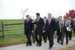 Secretary Salazar, Congressman John Sarbanes and Gov. Martin O'Malley walking through Fort. McHenry.