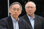 Energy Secretary Chu and Interior Secretary Salazar at press conference 5/12/2010