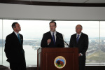 Bureau of Ocean Energy Management Director Tommy P. Beaudreau with Secretary of the Interior Ken Salazar and Maryland Gov. Martin O'Malley.