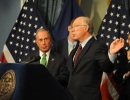 Secretary Salazar makes remarks with Mayor Bloomberg.