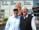 Secretary Salazar with L.L. Bean's grandson and Chairman Leon Gorman