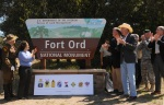 Fort Ord National Monument sign.