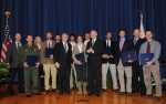 Secretary Salazar and Deputy Secretary Hayes with Convocation Award Winners.