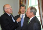 Secretary Salazar meets with Mayor Bloomberg and Louis Bacon.
