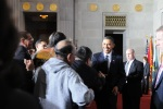 President Obama greets attendees.