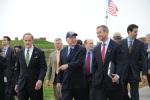 Deputy Secretary David Hayes and Secretary Salazar walk with Fort McHenry employee.