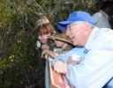 Secretary Salazar and children of volunteers at the Key Deer Wildlife Refuge.