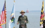 NPS Director Jon Jarvis speaking at Sandy Point State Park in Maryland
