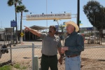 Secretary of the Interior Ken Salazar with Organ Pipe Cactus National Monument Superintendent Lee Baiza, touring border crossing in Lukeville, Ariz.