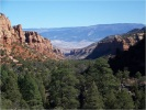 A panoramic shot of the Dominguez-Escalante National Conservation Area's scenic canyons and mountains.