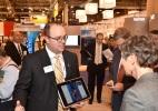 Secretary Jewell listens to a vendor at the OTC