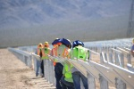 Workers at the Silver State North Solar Project