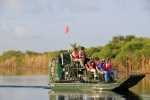 Secretary Jewell and others tour Everglades National Park by airboat.