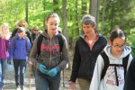 Secretary Jewell and a student, hiking in Prince William Forest Park