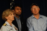 Commander 8th Coast Guard District Rear Admiral Mary Landry, Louisiana Governor Bobby Jindal and Interior Secretary Salazar