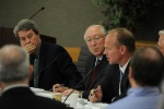 Secretary Salazar with BLM Director Bob Abbey and Wyoming Governor Matt Mead.