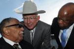 Secretary Salazar with Congressman John Lewis and Rev. Joe Lowrey, civil rights pioneer.